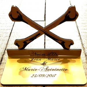 "Plaque ""Noces d'Or"""
