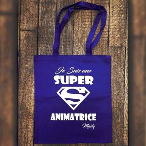 """Tote Bag """"Je susi une super animatrice"""""""