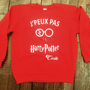 "Sweat ""J'peux pas y'a Harry Potter"""