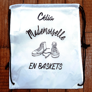 "Sac ""Mademoiselle en baskets"""