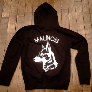 "Sweat à capuche ""Malinois"""