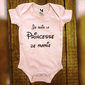 "Body ""Je suis la princesse de Mamie"""