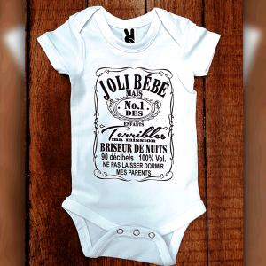 "Body ""Joli bébé"" Style Jack Daniels"