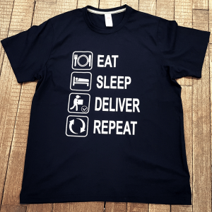 "T-shirt ""Eat, Sleep, Deliver, Repeat"""