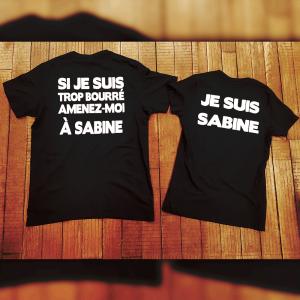 """T-shirts couple """"Je suis trop bourré"""""""