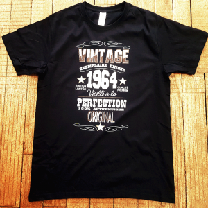 "T-shirt ""Vintage, exemplaire unique"""