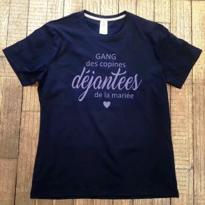 """T-shirt """"Gang des copines déjantées de la mariée"""""""