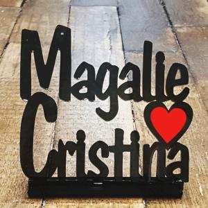 "Plaque personnalisée ""Magalie & Cristina"""