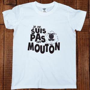"""T-shirt """"Je ne suis pas un mouton"""""""