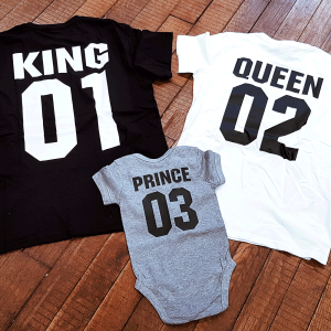 "T-shirts ""King"", ""Queen"" & ""Prince"""