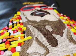 Exemple de broderie - Stevie Wonder