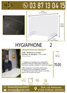 Hygiaphone sans découpe