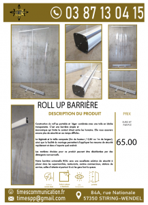Roll-up barrière